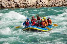 Rafting Through White Water Ra...
