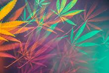 Funky, Abstract Kaleidoscopic Glitch Cannabis/marijuana Background