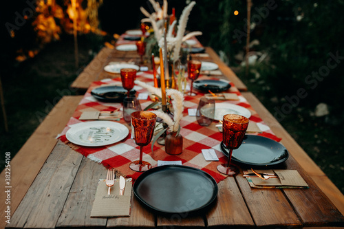 an outdoor fall gathering - 382254108