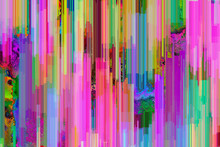 Vibrant, Digital Pixel Glitch ...