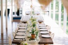 Outdoor Wedding Table Setup
