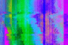 Vibrant, Digital Pixel Glitch ...