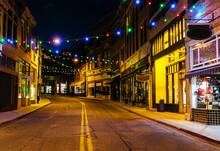 Main Street With Christmas Lig...