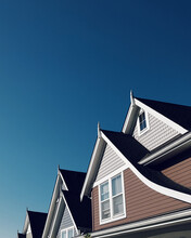 Row Of House Gables With Clear...