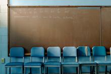 Chalkboard In High School Clas...