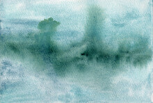 Green Blue Abstract Watercolor...