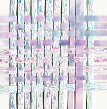 Violet Rain Paper Weaving Abstract Art