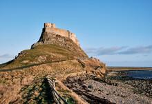 Lindisfarne Castle. Holy Island, Northumberland, UK.