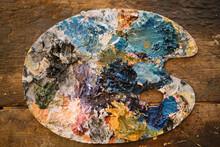 Artist's Paint Palette,