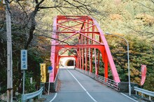 揖斐峡大橋の紅葉
