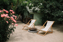 Lounge Chairs In The Garden