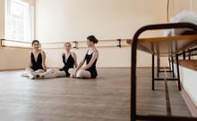 Slim Ballet Dancers Chatting D...