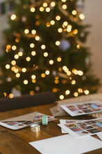 Holiday Cards And Christmas Tree