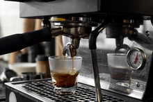 Espresso Machine Pouring Shot ...