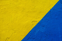 Detail Of A Yellow And Blue Wa...