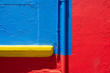 Detail Of A Yellow, Blue And R...