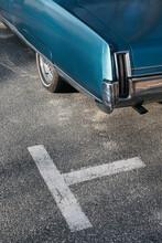 Vintage Car In Parking Space