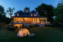 Backyard Camping With Tent