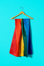 Gay Flag In A Hanger
