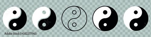 Fototapeta Yin Yang icon, symbol of harmony and balance obraz na płótnie