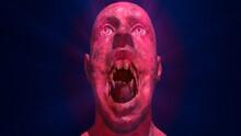 Skinwalker , Supernatural Humanoid Creature With Large Sharp Teeth , Fangs. 3d Render Illustration