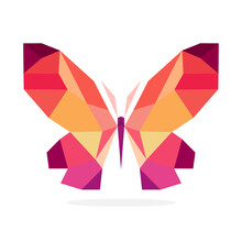 Butterfly Polygon Art Image. V...