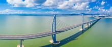 Aerial View Of The Zhuhai Section Of The Hong Kong–Zhuhai–Macau Bridge, China