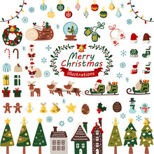 サンタやプレゼント等クリスマスイラスト集