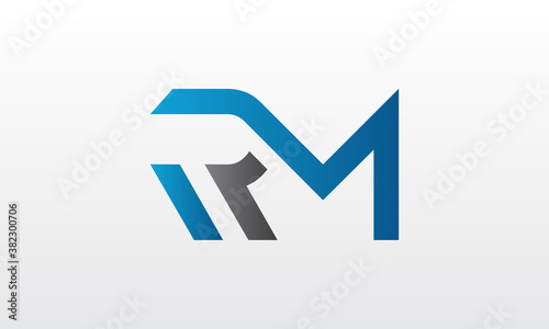 Foto Initial rm letter logo with creative modern business typography vector template