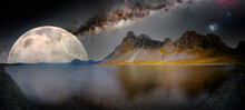 Fantastic Night Landscape With...