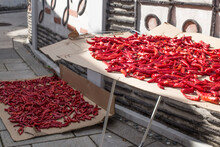 Drying Hot Peppers On The Road...