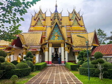Wat Wang Wiwekaram Or Wat Mon Temple In Sangkhlaburi, Historical Place In Kanchanaburi, Thailand