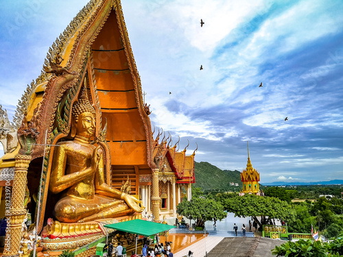 Tiger Cave Temple (Wat Tham Sua) ,it is very popular with tourists and foreigner Canvas Print