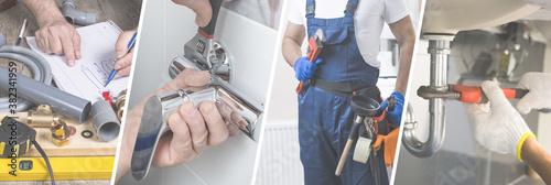 Professional plumber presentation banner - Advertisement for website Fototapeta