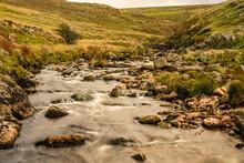 River Tavy Flowing Over Granite Rocks