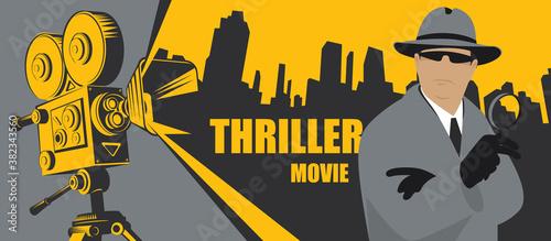 Fotografia, Obraz Movie poster for Thriller films