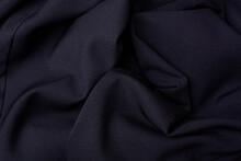 Black Fabric Folds Background....