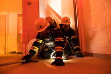 Feuerwehr Während Einer Atems...