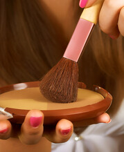 Applying Blusher