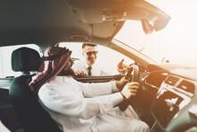Arabic Man At Car Dealership. ...
