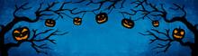 HALLOWEEN Background Banner Wi...