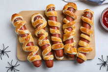 Cute Sausage Mummies Served On...