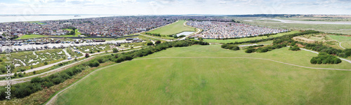 Fotografía aerial view of canvey island in essex england