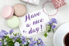 Have A Nice Day Card- Pink, Fl...