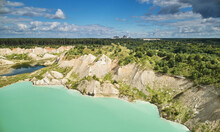 Cliff In Quarry Aerial View