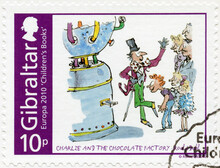 GIBRALTAR - 2010: Shows Charlie And The Chocolate Factory, Roald Dahl, Series Europa Childrens Books, 2010