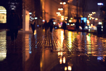 Sidewalk In Selective Focus In...