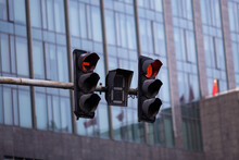Red Traffic Light On Pedestria...
