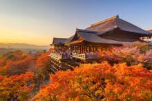 Kyoto, Japan At Kiyomizu-dera ...