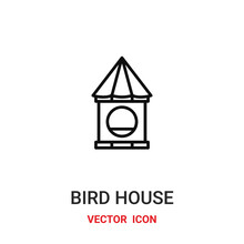 Bird House Icon Vector Symbol. Bird House Symbol Icon Vector For Your Design. Modern Outline Icon For Your Website And Mobile App Design.